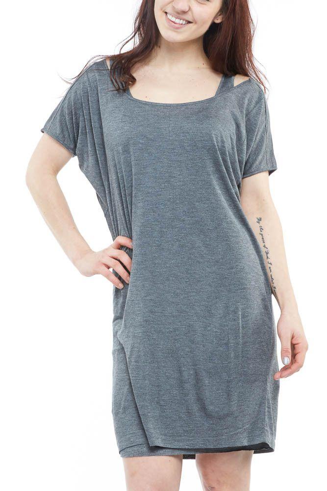 BB Dakota Hebe Dress in Medium Heather Grey