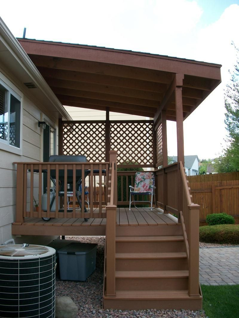 Shed Roof Over Deck Photo Pergola Diy Patio Cover