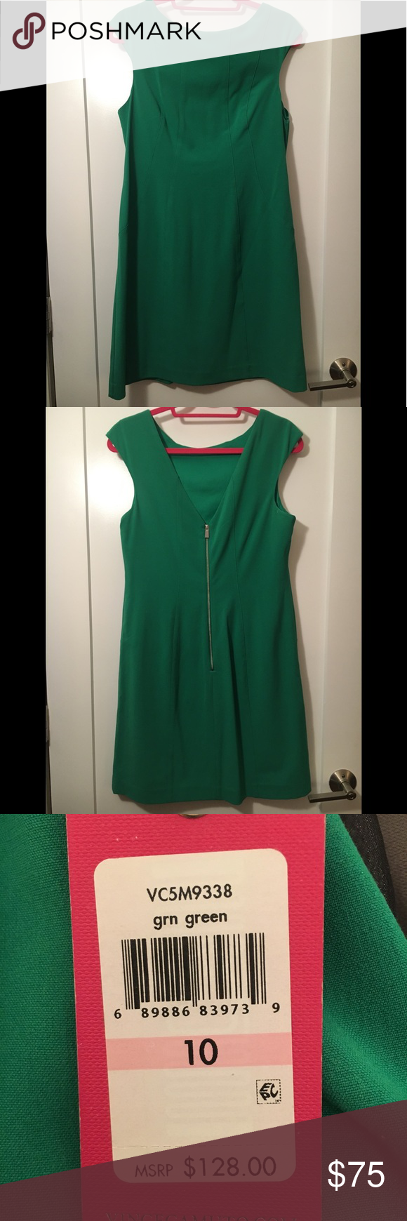 Nwt Vince Camuto Kelly Green Dress Size 10 Kelly Green Dresses Green Dress Clothes Design [ 1740 x 580 Pixel ]