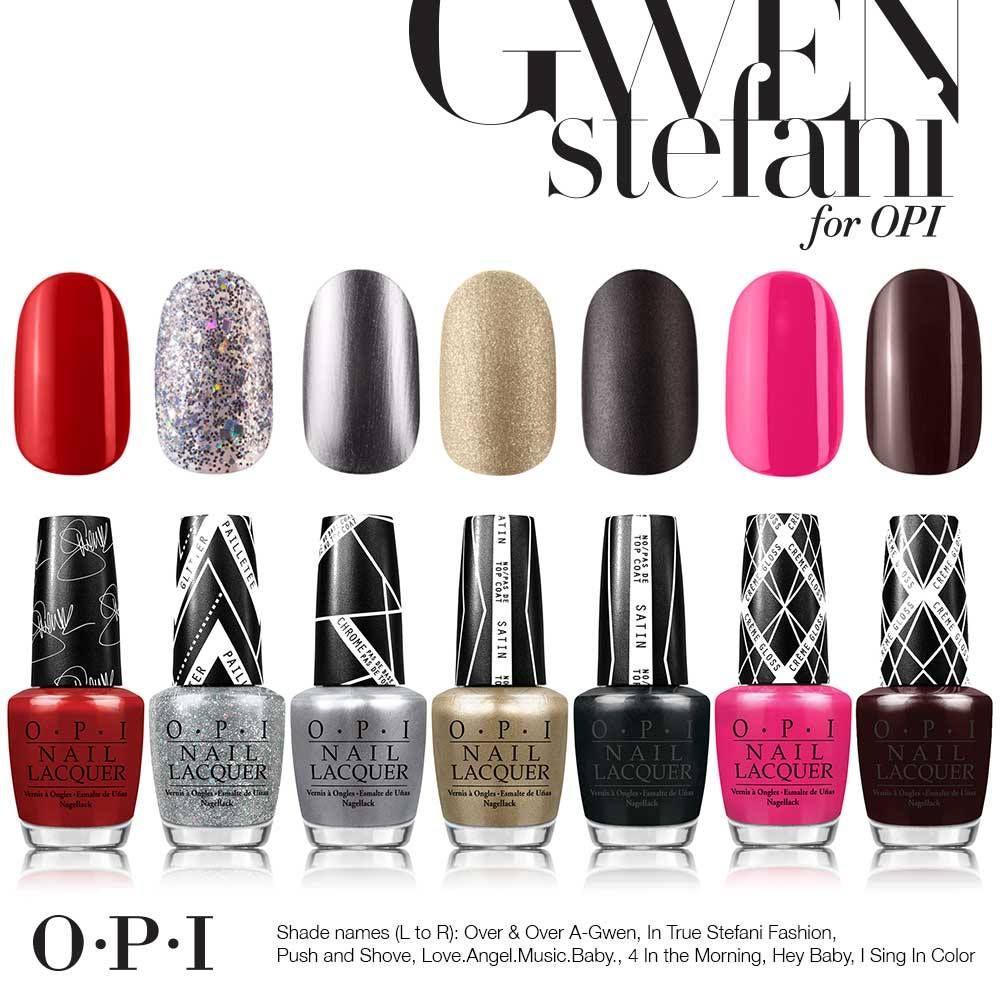 Todos los tonos de la colaboración de Gwen Stefani con OPI #OPIGwen #OPI #GwenStefani #nails
