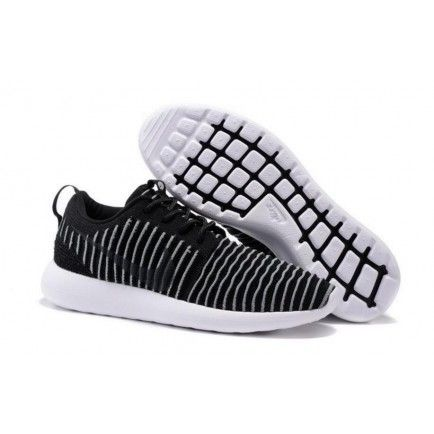 83b8715b23b74 Roshe Two Low Flyknit Shoes Black White Gray - Roshe Run
