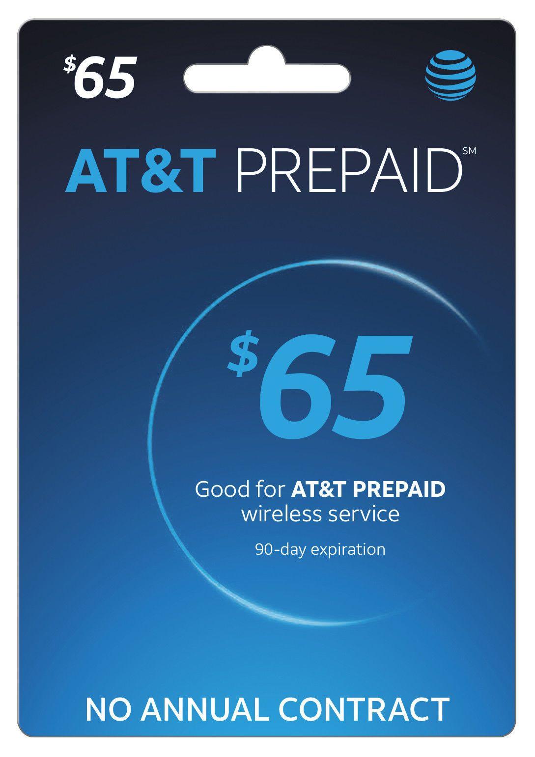 SIM Cards 29778 Atandt Prepaid Sim Preloaded With 65