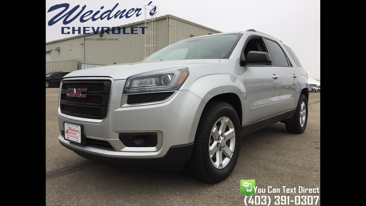 Used 2016 Gmc Acadia Sle Awd Silver Cloth Stock 16p022 Awd