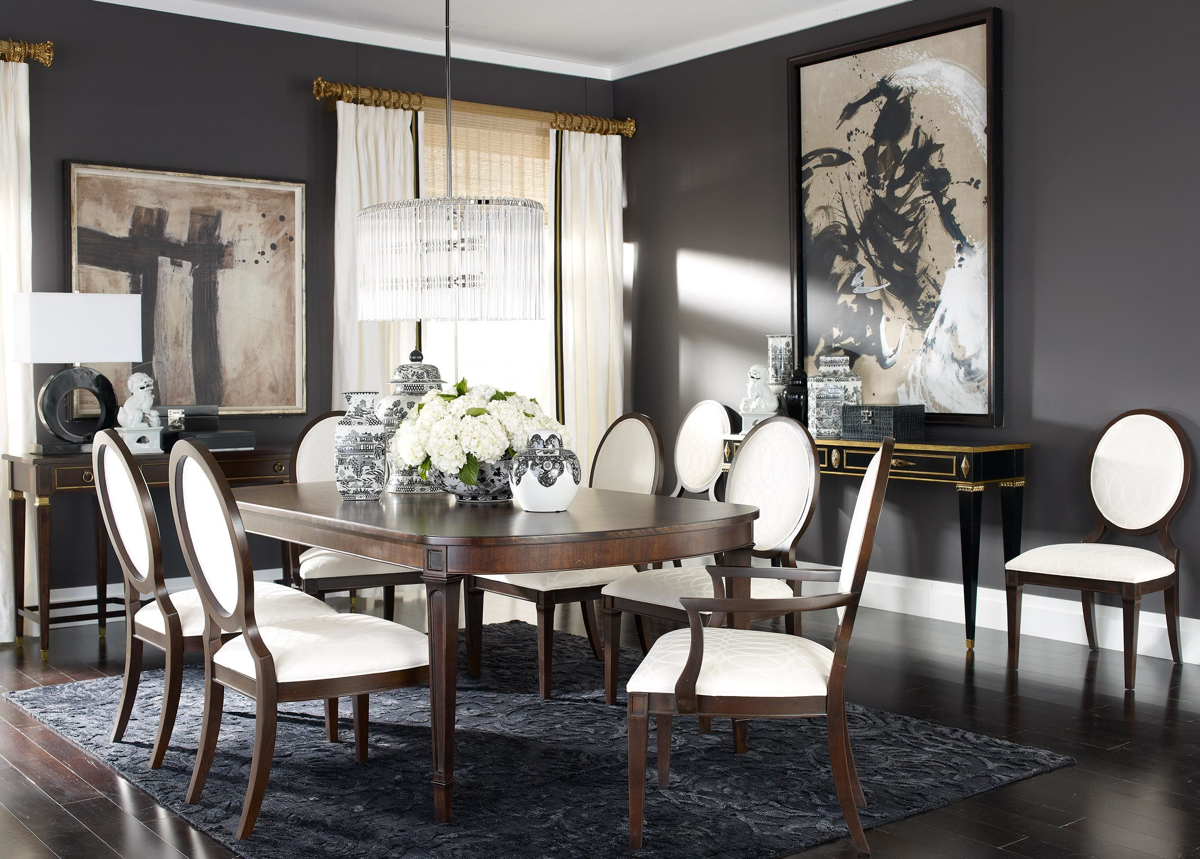 Elegant Staging Of Dining Room Including My Favorite Table Option