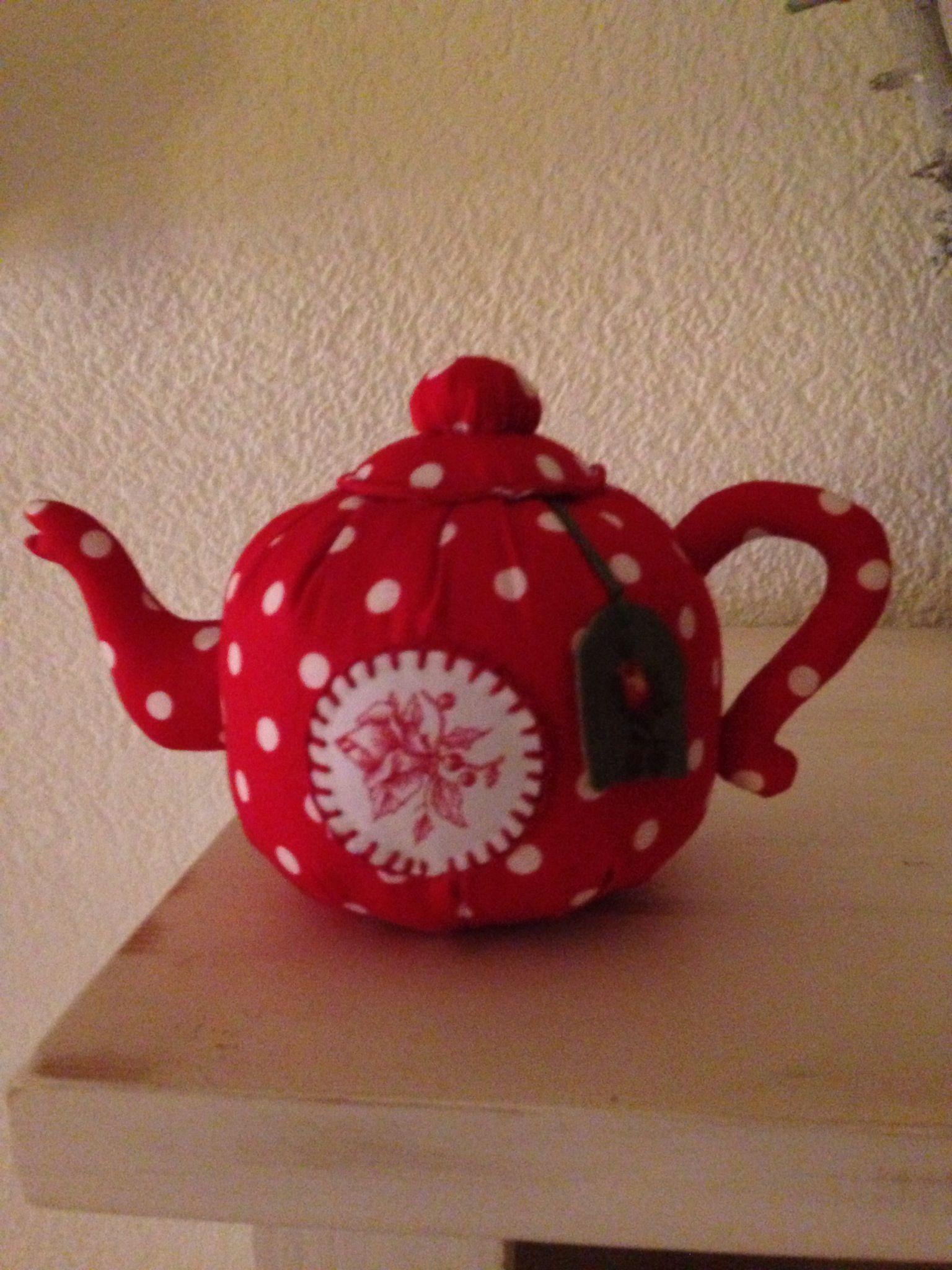 Teekanne Rot (Tilda) | dekoratives selbst nähen | Pinterest ...
