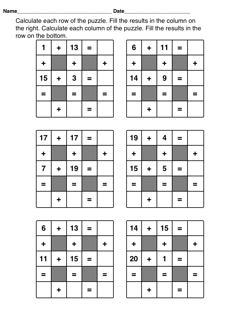 Math Puzzles Printable For Kids Kiddo Shelter – Math Puzzle Worksheet