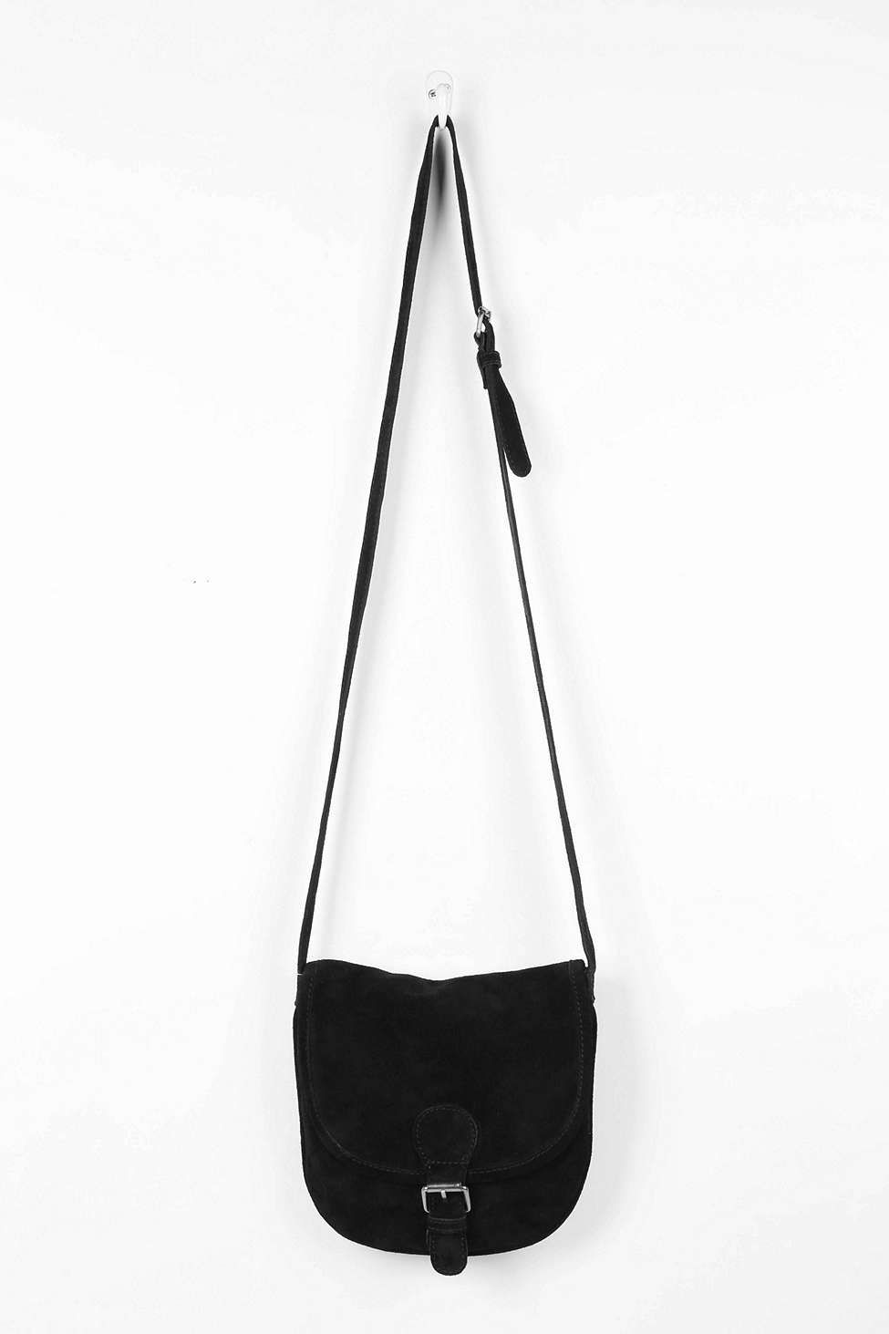 f0374f6cb124 BDG Suede Crossbody Saddle Bag - Urban Outfitters