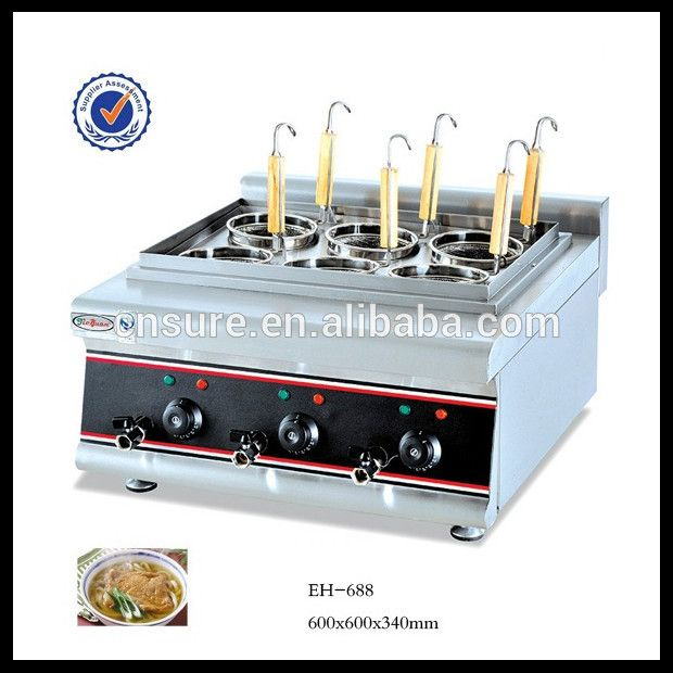 Commercial Counter Top Gas Convection Pasta Cooker 6 Basket
