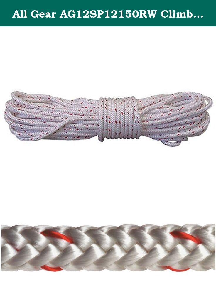 All Gear Ag12sp12150rw Climbing Rope Pes 1 2 Diameter 150 Length All Gear S Arborist Rope Is A 12 Strand Braided Polyeste Climbing Rope Strand Braid Rope