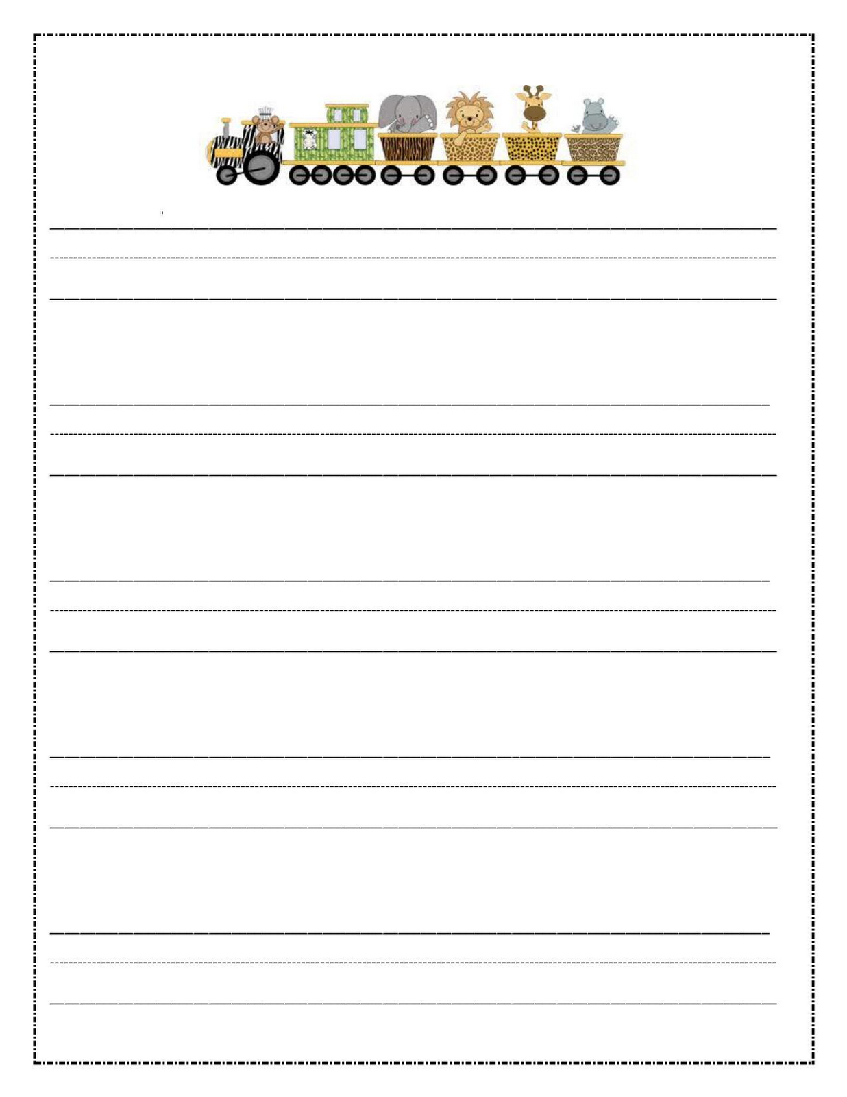 writing paper printable for children | notebook paper templates