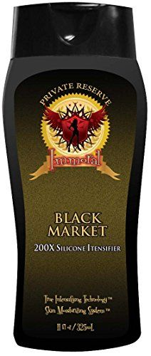 Immoral Black Market 200X Private Reserve Tanning Lotion  Bronzer Free Tingle Free Tattoo Safe Streak Free OutdoorIndoor Tanning Bed Silicone Intensifier Accelerator and Tan Maximizer 11Oz ** Check out this great product. Note:It is Affiliate Link to Amazon.