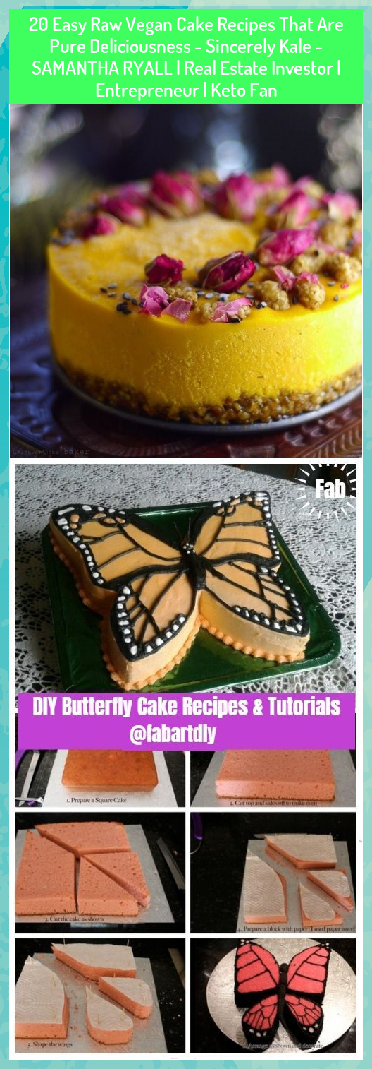 20 Easy Raw Vegan Cake Recipes That Are Pure Deliciousness - Sincerely Kale - SAMANTHA RYALL | Real Estate Investor | Entrepreneur | Keto Fan #Cake #Deliciousness #Easy #Entrepreneur #Estate #Fan #Investor #Kale #Keto #Pure #Raw #Real #Recipes #RYALL #Samantha #Sincerely #Vegan