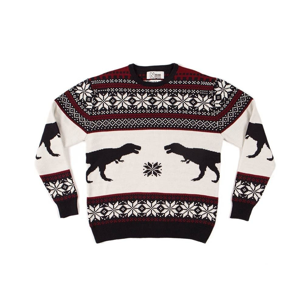 fd0154e87f7a Dinosaur Christmas jumper for kids | Natural History Museum Online Shop