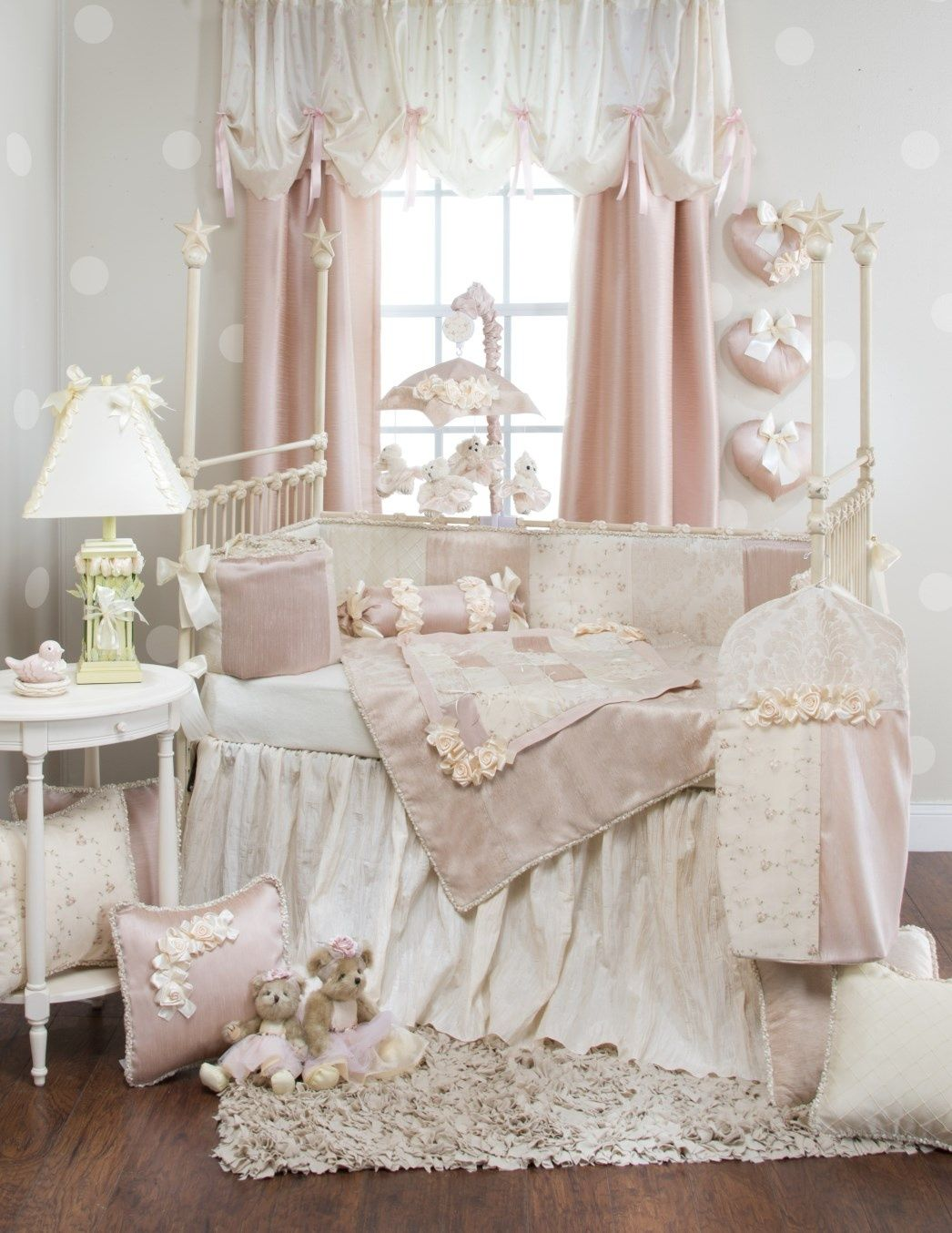 Baby cribs victoria - The Glenna Jean Ribbons Roses Baby Crib Bedding Set Will Pamper Your Little