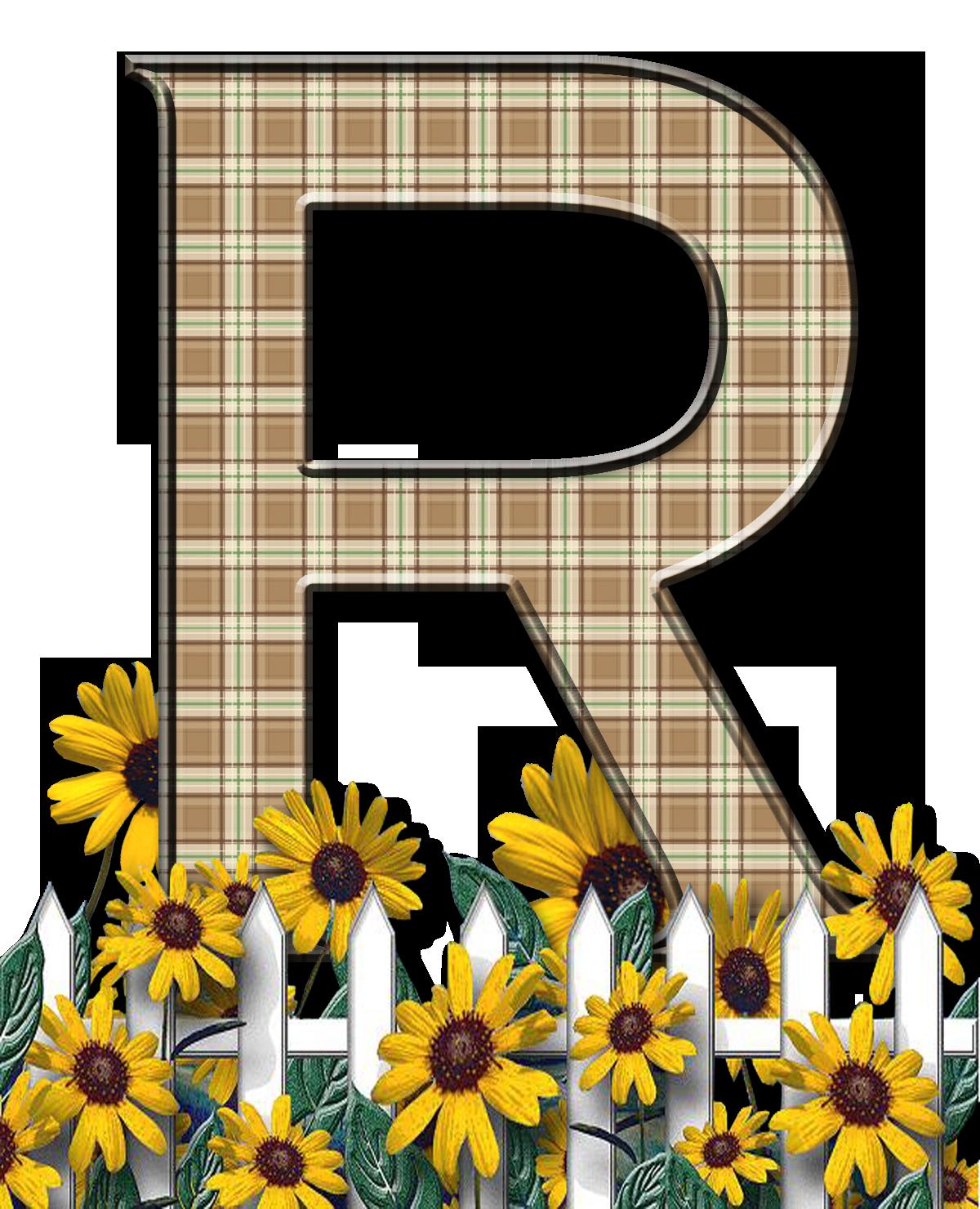 Letra con verja floral.....R | Lettering alphabet ...