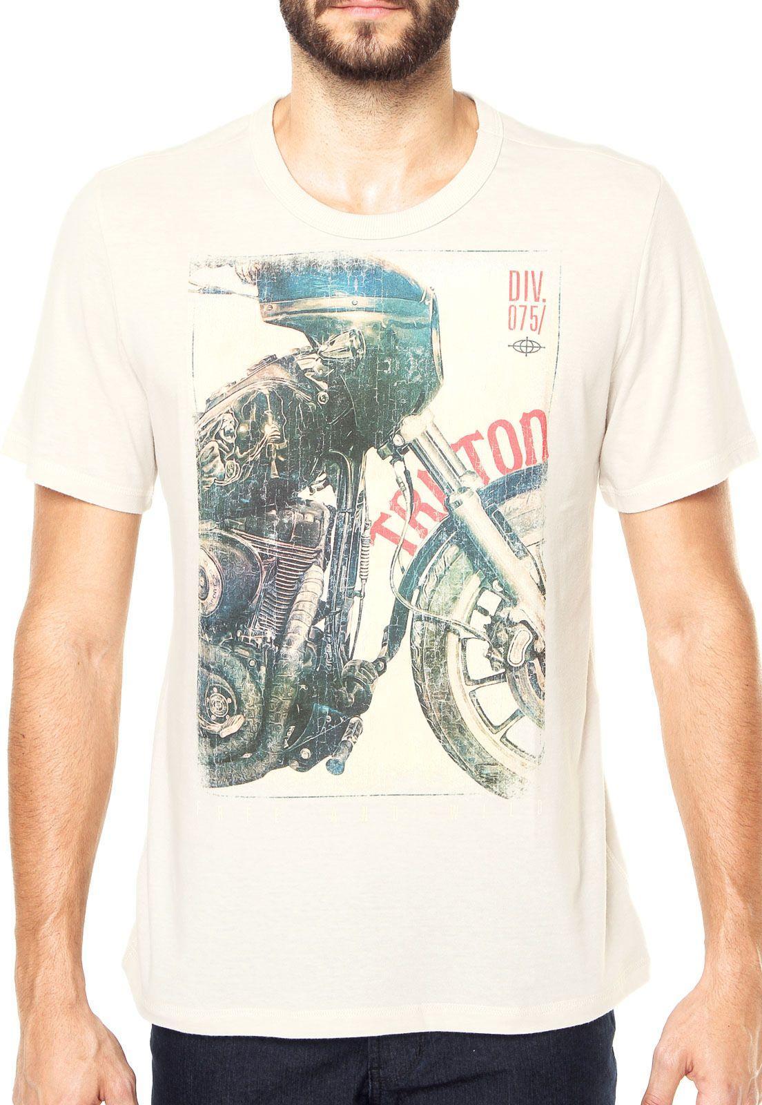 2f34f75fde8 Camiseta Triton Moto Off white - Marca Triton