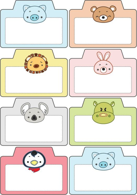 124904589648324728 on Name Tag Template With Animals 9