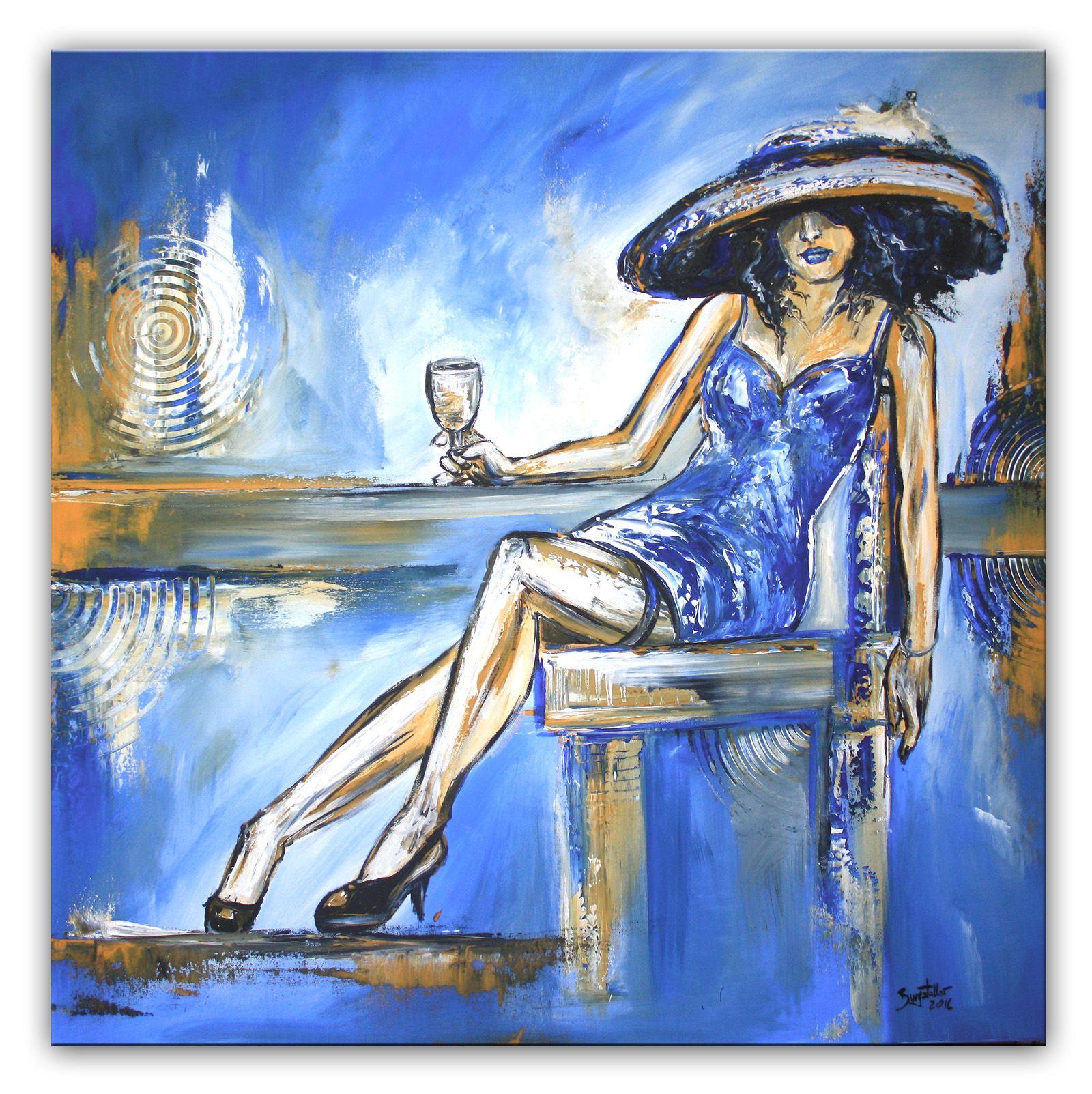 Noch mehr - Boheme Bild Frau handgemalt - Modernes Wandbild aus dem ...