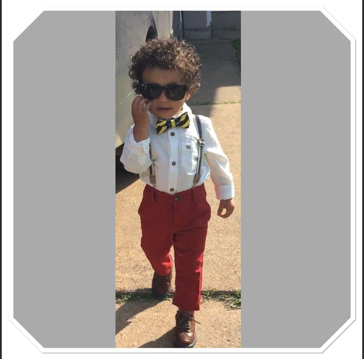 Baby Boy Fashion, Bow tie, suspenders, wingtips, curls, toddler