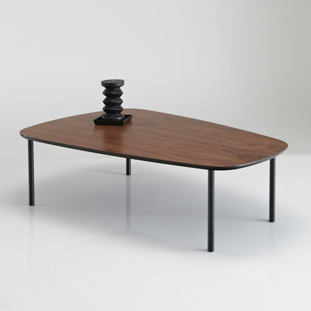 Table Basse Plaquee Noyer Watford N E W F L A T Dark Wood