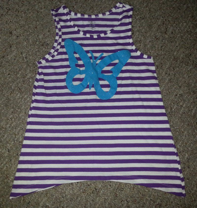 THE CHILDRENS PLACE Purple Striped Butterfly Tank Top Girls Size 10-12 https://t.co/GixFOfND0X https://t.co/GixFOfND0X