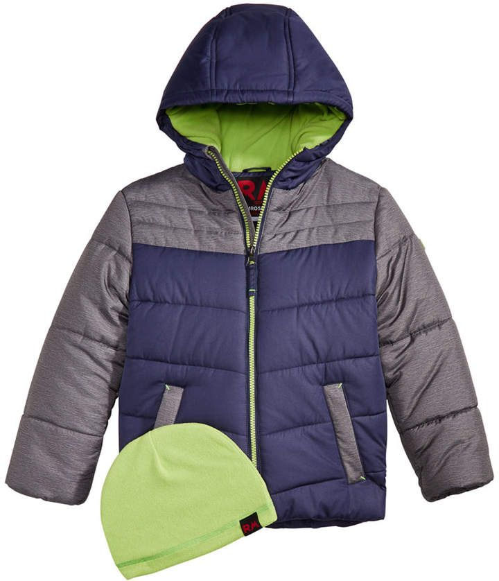 Boys Winter Lined Quilted Detachable Hood Jacket Coat Anorak Black 5 to 6 Years