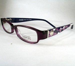 Coach Bernice 844 Plum Women Eyeglasses Frames Eyewear New Designer