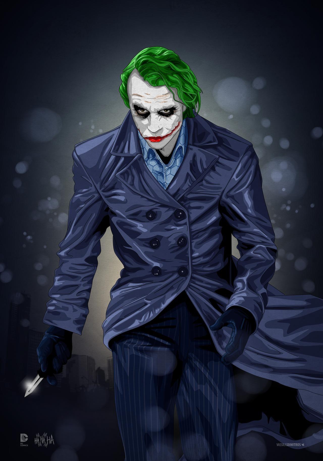 The Joker Heath Ledger Tribute By Dimitrosw On Deviantart Joker Heath Joker Artwork Joker Wallpapers