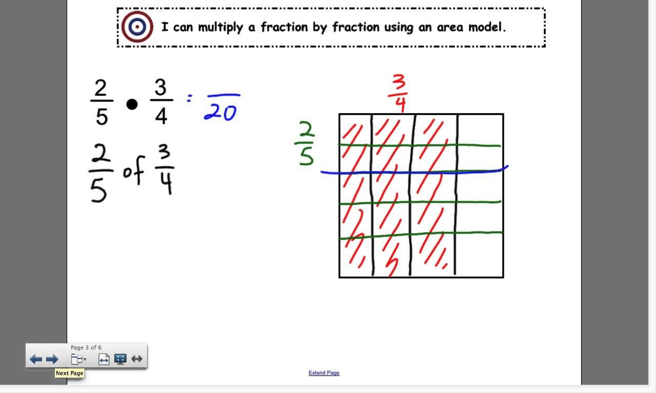 Multiply A Fraction By Fraction Using An Area Model 2