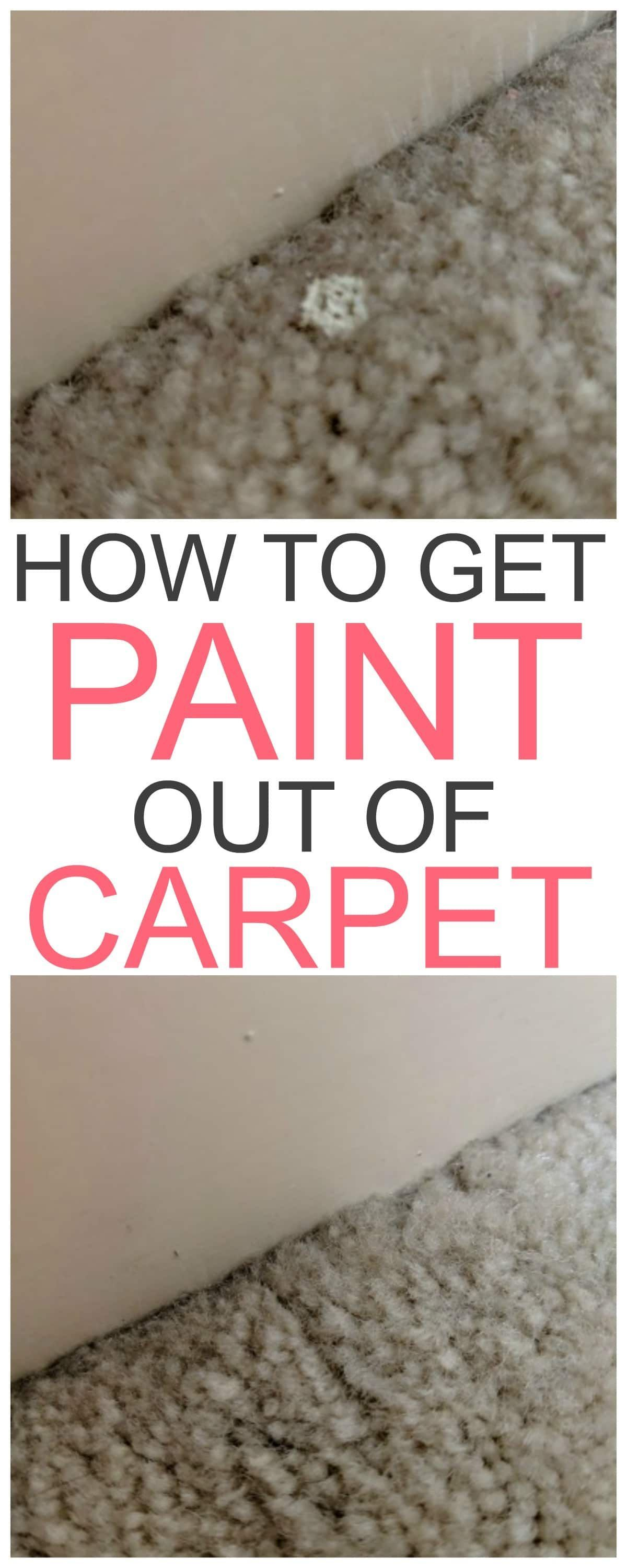 How to get paint out of carpet cleaning hacks cleaning