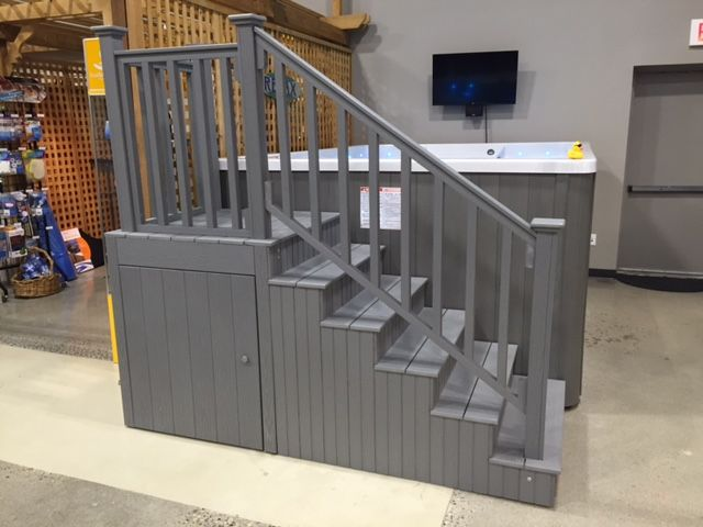 Best Swim Spa Steps With Handrail And Underneath Storage 400 x 300