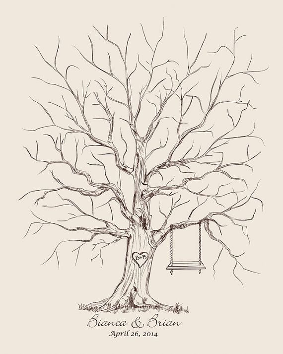 Outdoor graduation party decorating ideas when decorating for custom wedding guest book alternative vintage wedding tree guestbook thumb fingerprint wedding tree personalized wedding vintage guest book by fancyprints pronofoot35fo Gallery