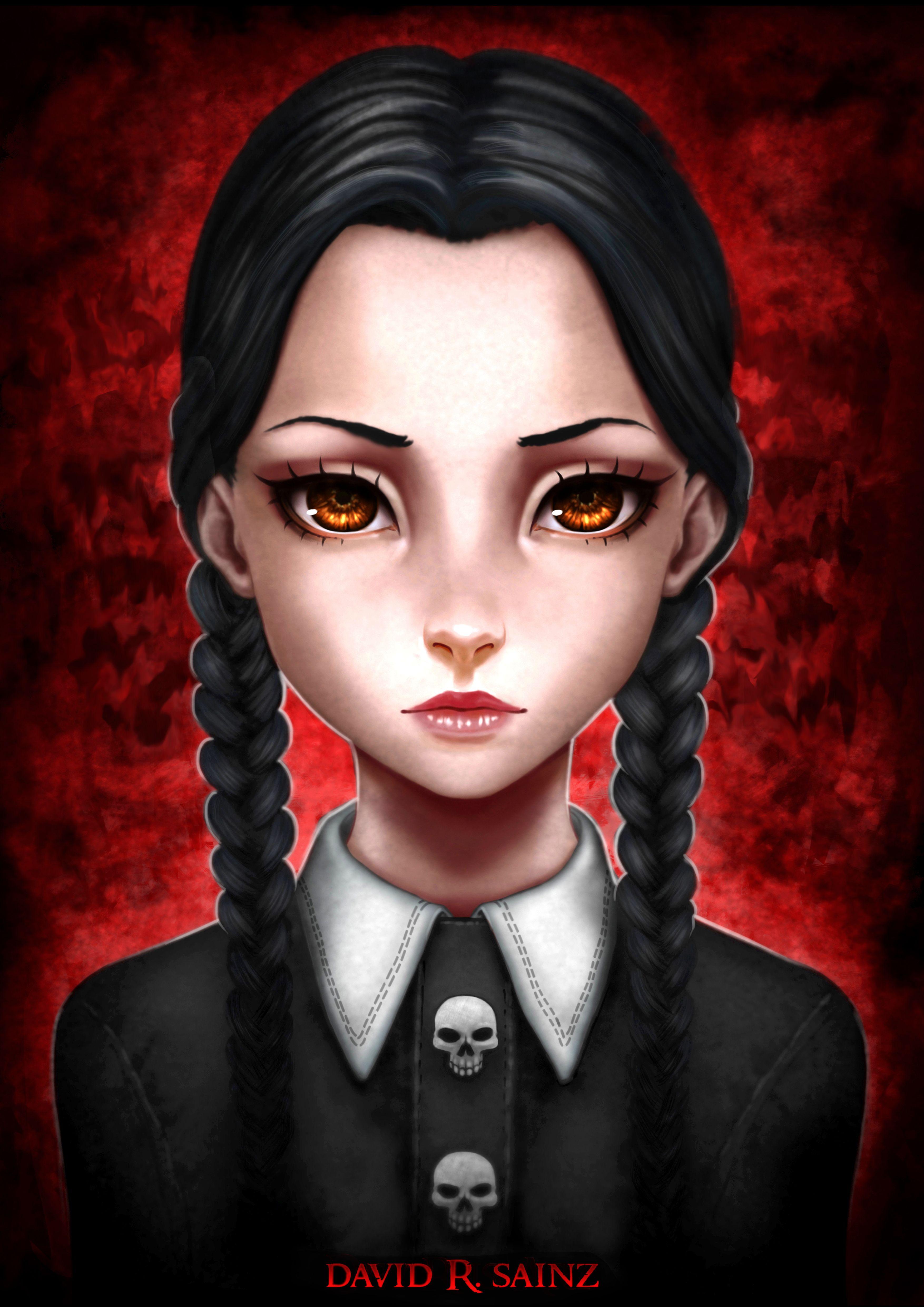 Addams Family Porn wednesday addams fanartdavid r.sainz | wednesday addams