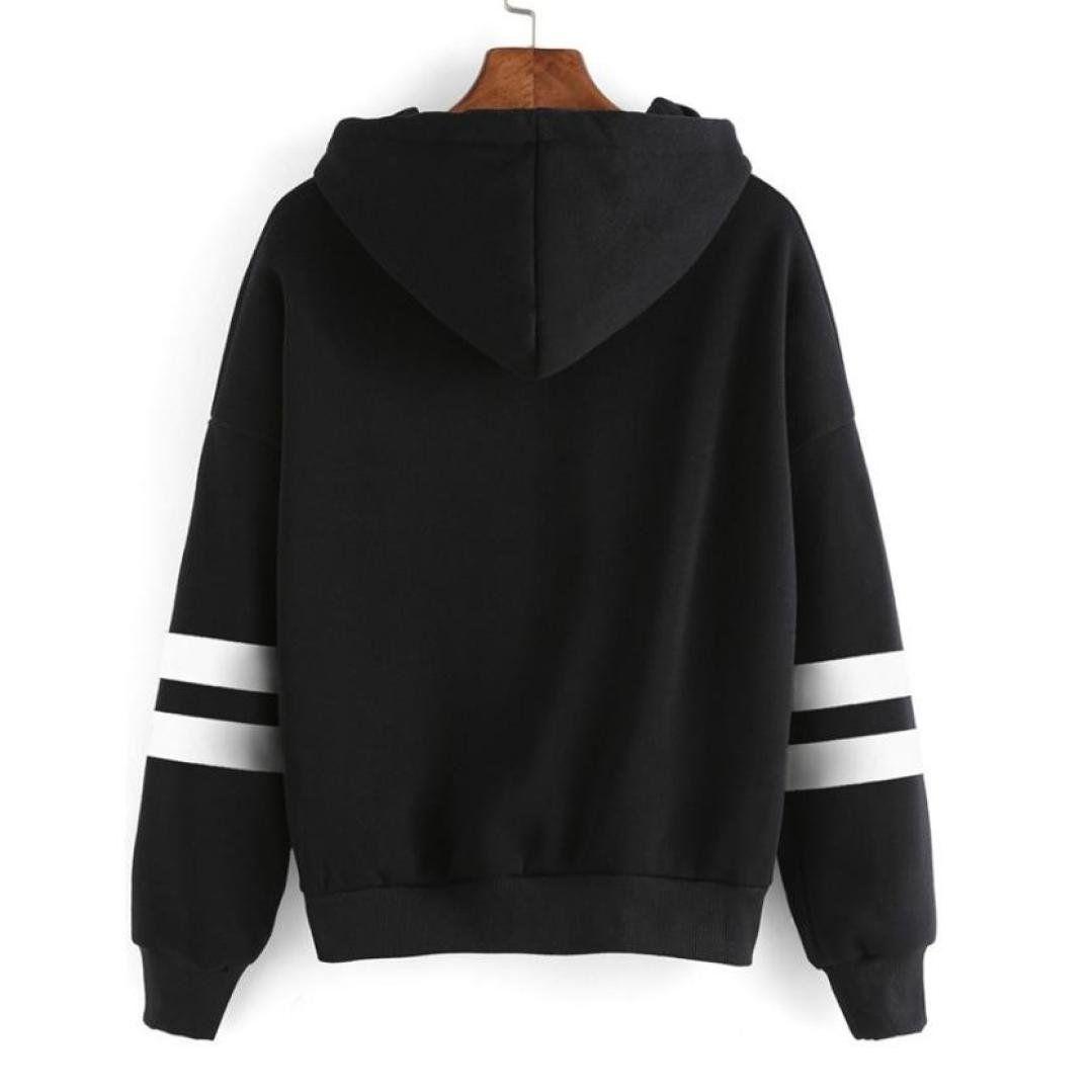 Womens Long Sleeve Hoodie Sweatshirt Pullover Tops Casual Blouse Jumper Coat Hot