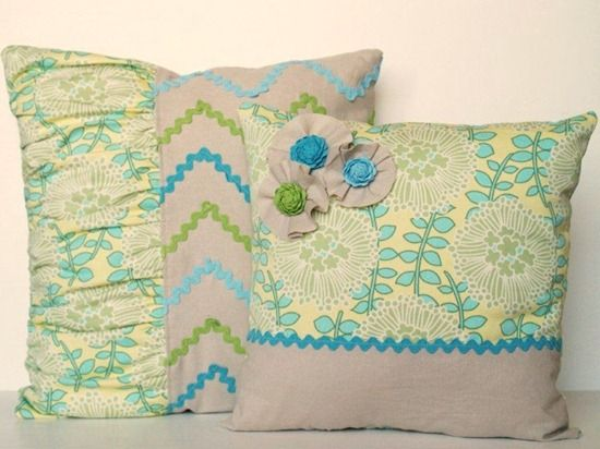 ric rac throw pillows