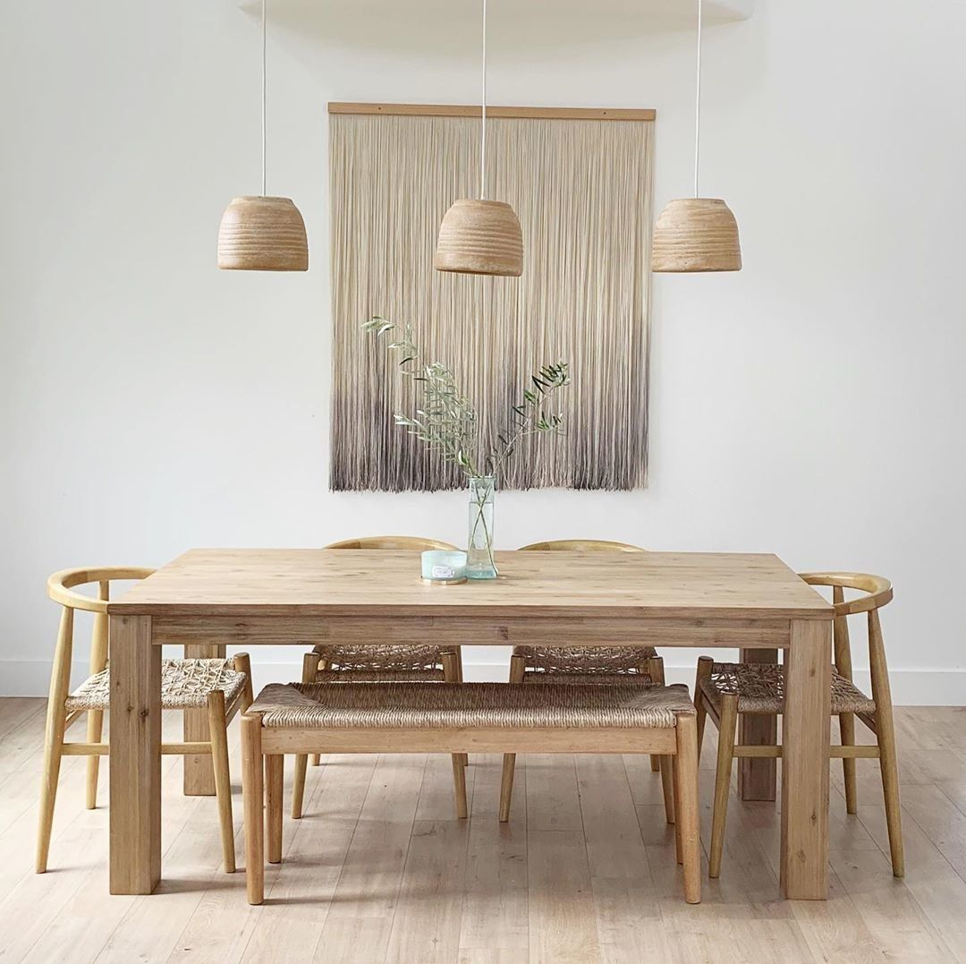 The Lancaster Dining Table Features A Solid Authentic Quality Built From Acacia Wood Wood Dining Room Table Lancaster Dining Table Scandinavian Dining Table