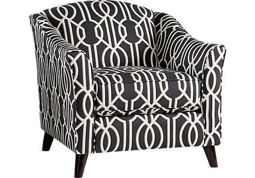 Cool Sofia Vergara Summerlin Black Accent Chair In 2019 S0Fi Inzonedesignstudio Interior Chair Design Inzonedesignstudiocom