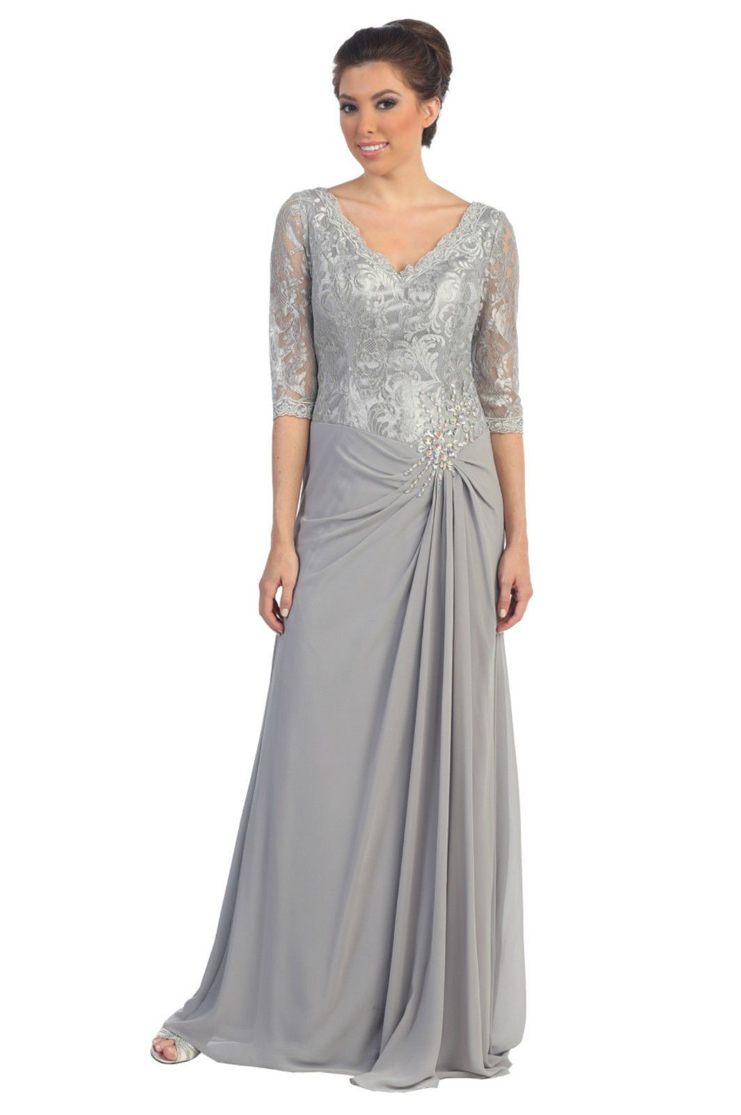 Long Mother of the Bride Plus Size Formal Evening Gown | Mother of ...