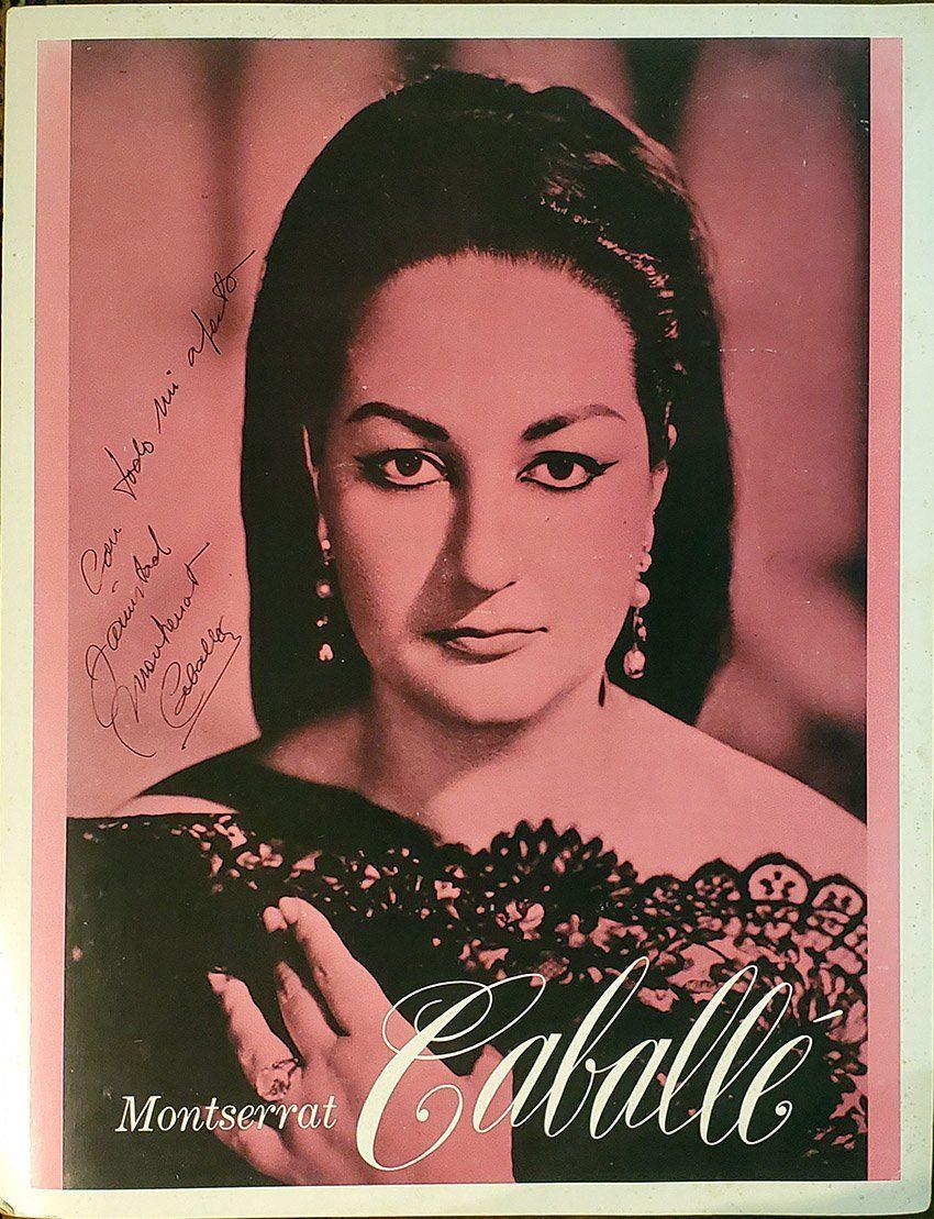 Caballe, Montserrat Signed Mini Poster Mini, Opera