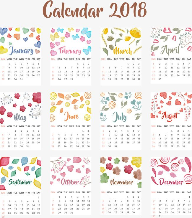 Calendar,Single-page calendar,Watercolor hand-painted wind,love,Leaf