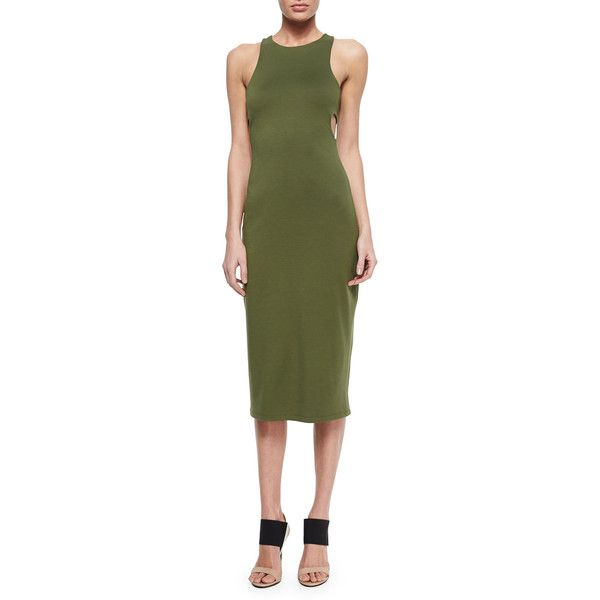 T by Alexander Wang Cutout-Back Luxe Ponte Dress (1,100 CNY - army form