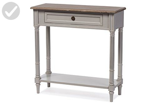 Baxton Furniture Studios Edouard French Provincial Style Distressed Two Tone 1 Drawer Console Table, White Wash - Improve your home (*Amazon Partner-Link)