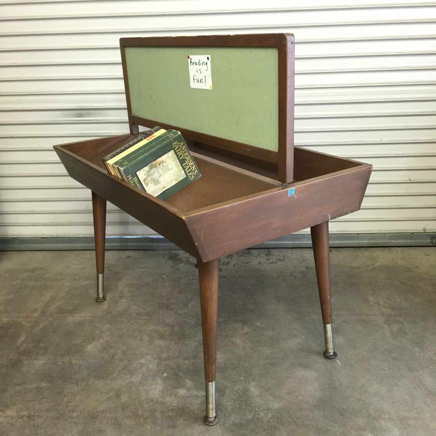 Library Table, Book Trough Table, Library Furniture, Double Sided, With Bulletin  Board