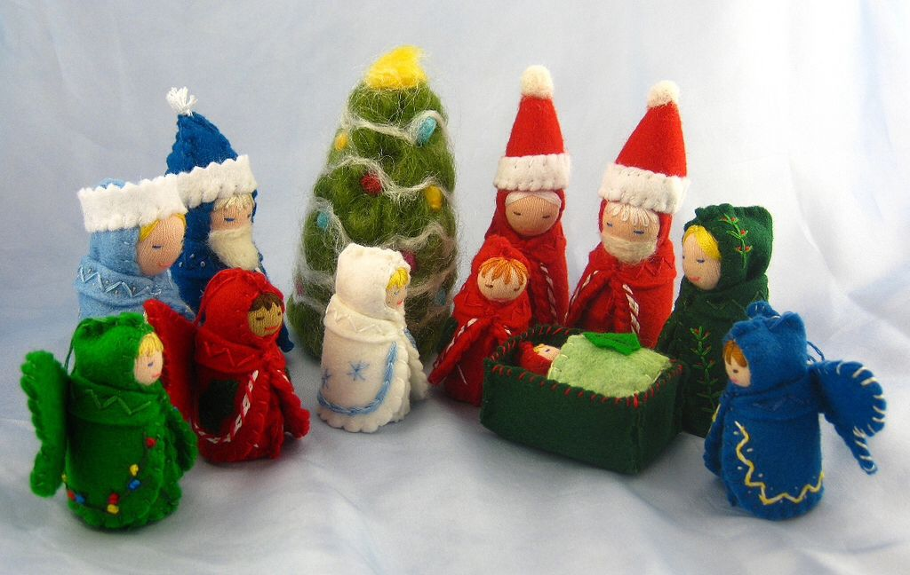 Sent via lifelike nativity crafts needle felted