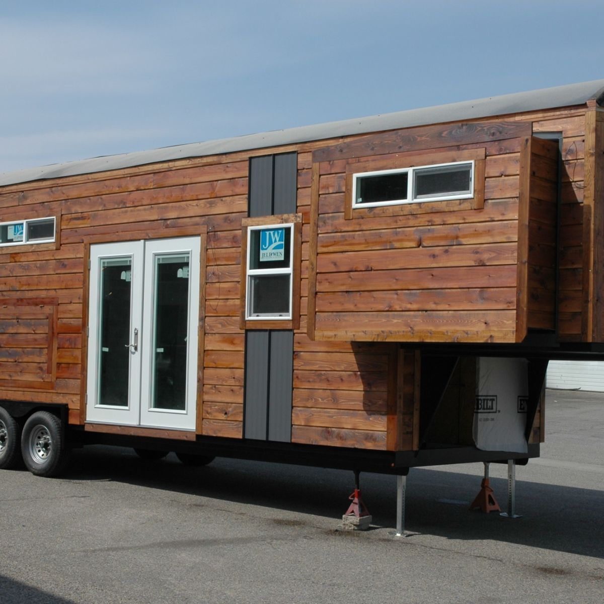 Carpathian model with 3 slide outs tiny house for rent