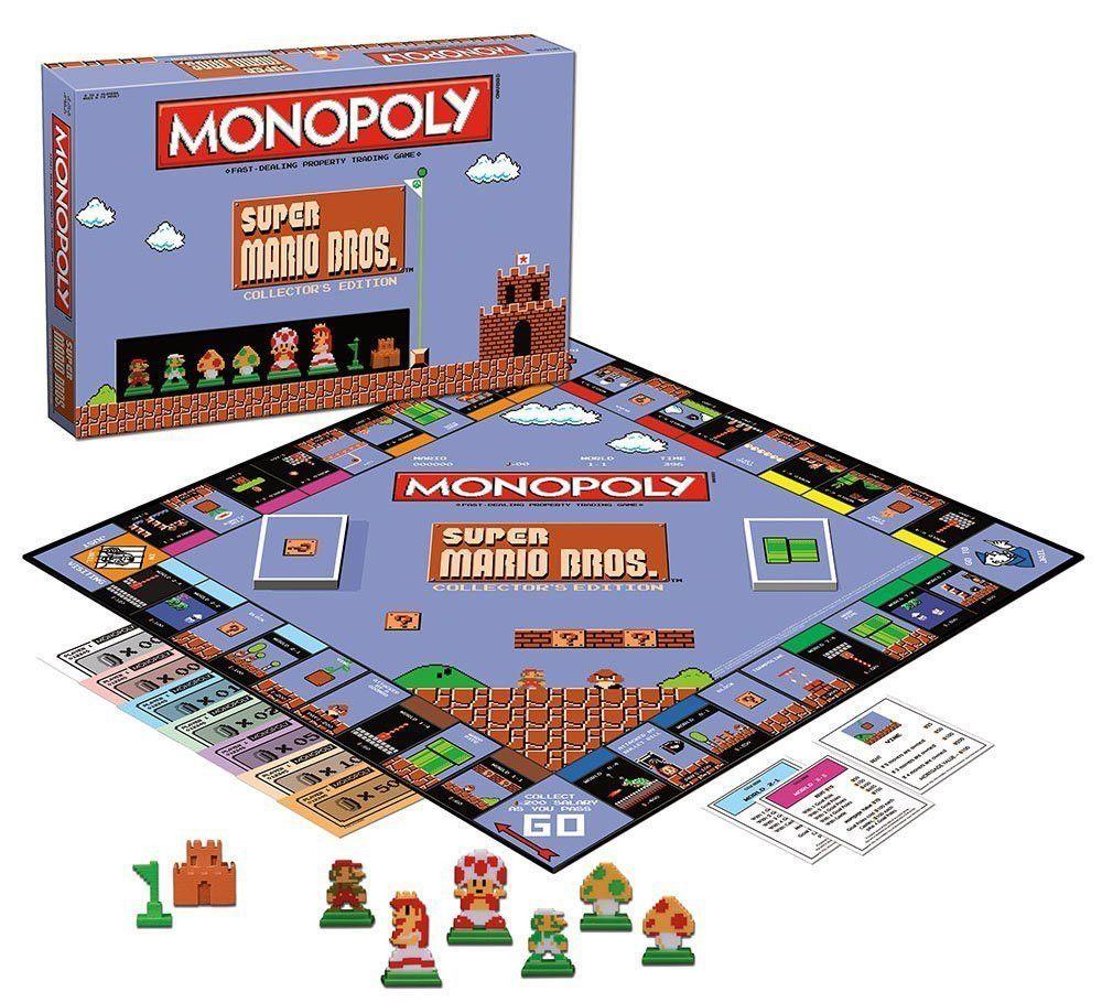 Super Mario Bros Monopoly Collector S Edition Board Game Super Mario Bros Mario Bros Super Mario Gifts