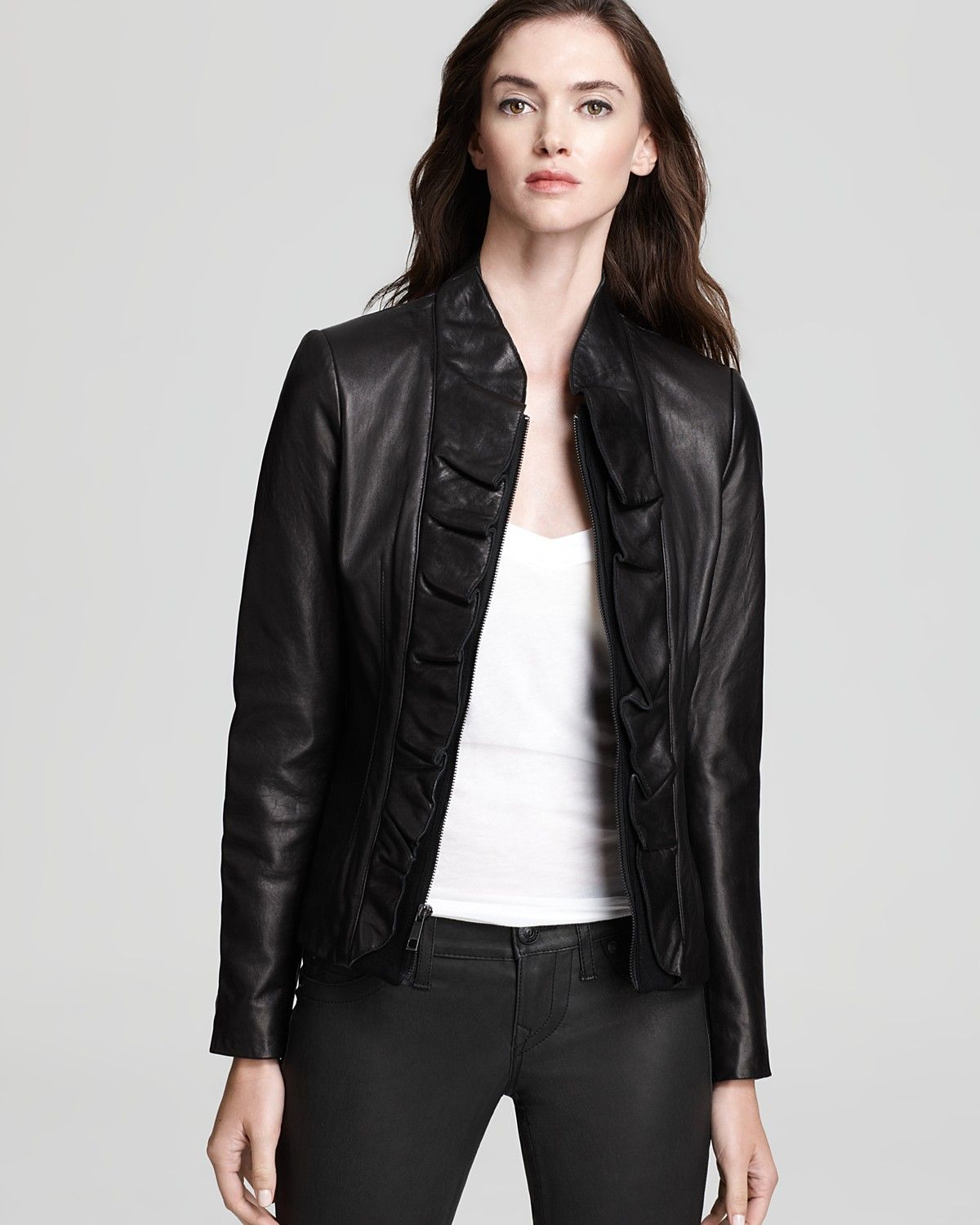 Elie Tahari Kendrick Ruffle Leather Jacket Leather Women S Trends Fall Style Guide It S On Lookb Leather Jacket Leather Jackets Women Fall Style Guide [ 1500 x 1200 Pixel ]