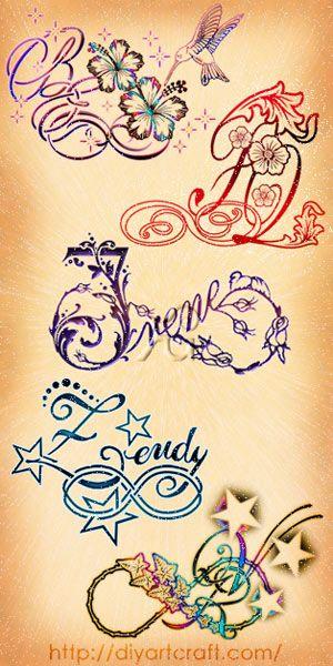 Poster dedicato al simbolo dell 39 infinito con 5 creazioni for Idee tatuaggi lettere