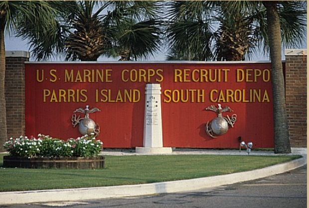 USMC paris island hahaha had to do it. it is a part of my ...