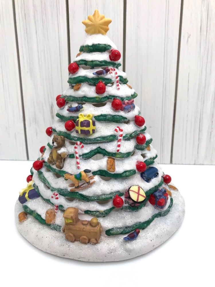 Partylite Christmas Market Evergreen Flocked Xmas Tree Holiday Christmas Market Xmas Tree Decorations Holiday Decor Christmas